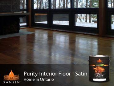 Precision Coat Purity Floor Sansin Factory Finish